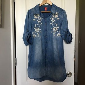 Chelsea & Violet Chambray denim shirt dress size S